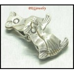 5x Cats Hill Tribe Silver Beads Jewelry Findings Wholesale [KB012]
