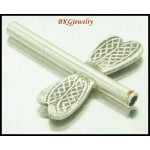 3x Hill Tribe Silver Dragonfly Beads Karen Jewelry Supplies [KB083]