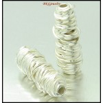 2x Wholesale Jewelry Findings Hill Tribe Silver Tube Beads [KB063]