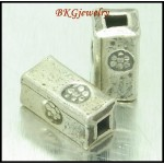 10x Jewelry Supplies Tube Beads Wholesale Hill Tribe Silver [KB098]