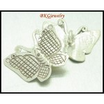 2x Hill Tribe Silver Butterfly Charms Jewelry Supplies Wholesale [KC001]