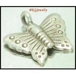 3x Karen Butterfly Hill Tribe Silver Jewelry Findings Charms [KC071]
