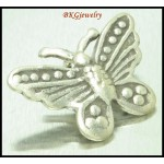 3x Karen Hill Tribe Silver Butterfly Charms Jewelry Supplies [KC072]