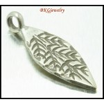 3x Jewelry Findings Wholesale Hill Tribe Silver Charms Leaf [KC050]