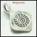 5x Engrave Charms Hill Tribe Silver Jewelry Findings Wholesale [KC018]