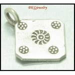 3x Jewelry Supplies Square Hill Tribe Silver Engrave Charms [KC028]