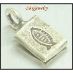 5x Jewelry Supplies Hill Tribe Silver Fish Engrave Charms [KC034]
