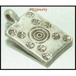 2x Hill Tribe Silver Charms Engrave Jewelry Finding Wholesale [KC061]