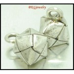 3x Jewelry Findings Hill Tribe Silver Weaving Cube Charms [KC088]