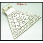 1x Engrave Hill Tribe Silver Pendant Wholesale Jewelry Supply [KC003]