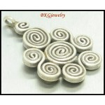 1x Jewelry Supplies Coil Hill Tribe Silver Pendant Wholesale [KC022]