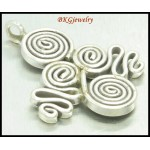 1x Jewelry Findings Coil Hill Tribe Silver Pendant Wholesale [KC023]