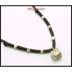 Waxed Cotton Cord Necklace Hill Tribe Silver Charm Wholesale [KH115]