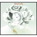 Electroforming Wholesale 925 Sterling Silver Rose Ring [MR105]
