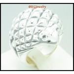 925 Sterling Silver Electroforming Jewelry Toad Ring [MR068]