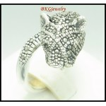 Electroform Sterling Silver Wholesale Marcasite Tigar Ring [MR078]