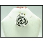 Rose Jewelry Electroforming Pendant 925 Sterling Silver [MP052]