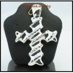925 Sterling Silver Pendant Fashion Cross Electroform [MP014]