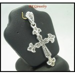 Sterling Silver Marcasite Jewelry Electroform Cross Pendant [MP036]