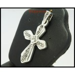 Electroforming Cross Pendant Marcasite Wholesale Sterling Silver [MP042]