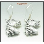 925 Sterling Silver Horse Earrings Fashion Electroform [ME032]