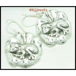 Electroforming 925 Sterling Silver Fashion Frog Earrings [ME069]