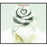 Electroforming Rose Jewelry 925 Sterling Silver Ring [MR131]
