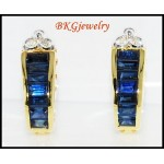 Blue Sapphire 18K Yellow Gold Exclusive Diamond Earrings [E0005]