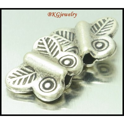 3x Thai Jewelry Supplies Beads Butterfly Hill Tribe Silver [KB064]