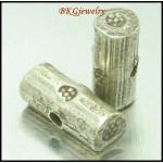 3x Hill Tribe Silver Jewelry Supplies Spacer Beads Wholesale [KB100]