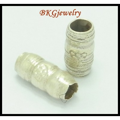 10x Wholesale Hill Tribe Silver Tube Beads Jewelry Findings [KB006]