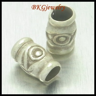 10x Tube Beads Hill Tribe Silver Jewelry Supplies Wholesale [KB017]