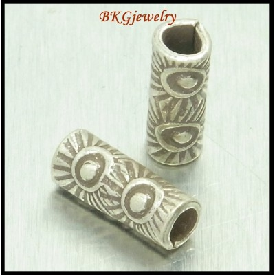 10x Tube Beads Wholesale Jewelry Supplies Hill Tribe Silver [KB048]