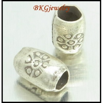 10x Tube Beads Hill Tribe Silver Jewelry Supplies Wholesale [KB057]