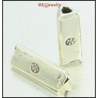 5x Hill Tribe Silver Jewelry Supplies Wholesale Tube Beads [KB061]