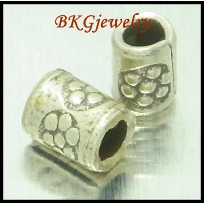 10x Tube Hill Tribe Silver Beads Wholesale Jewelry Supplies [KB096]