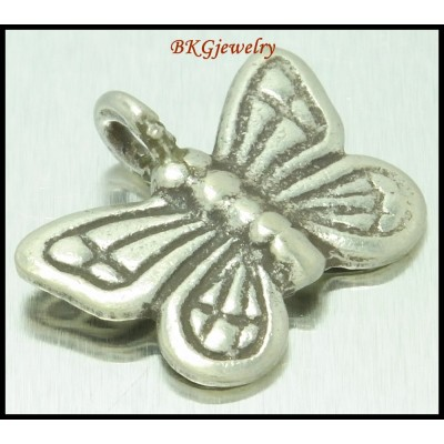 3x Karen Hill Tribe Silver Butterfly Charms Jewelry Supplies [KC059]