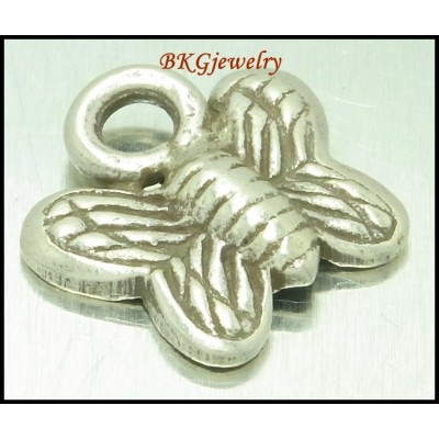 5x Butterfly Karen Hill Tribe Silver Charms Jewelry Supplies [KC079]