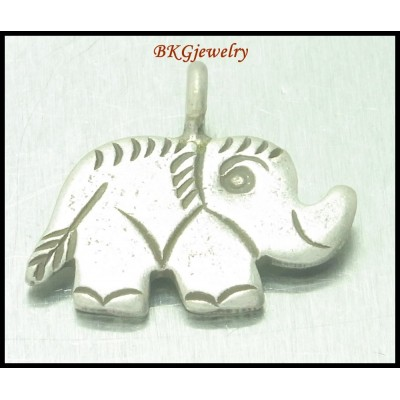 3x Elephant Jewelry Supplies Thai Hill Tribe Silver Charms [KC025]