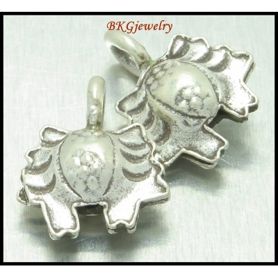 3x Wholesale Hill Tribe Silver Charms Crab Jewelry Findings [KC014]