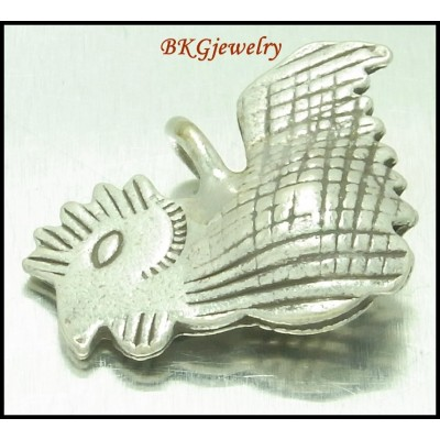 2x Jewelry Supplies Wholesale Hill Tribe Silver Charm Chicken [KC083]