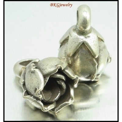 2x Jewelry Supplies Hill Tribe Silver Flower Charms Wholesale [KC069]
