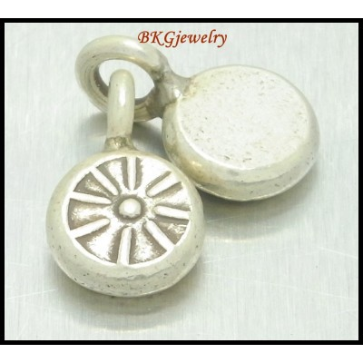 3x Hill Tribe Silver Charm Engrave Wholesale Jewelry Supplies [KC006]