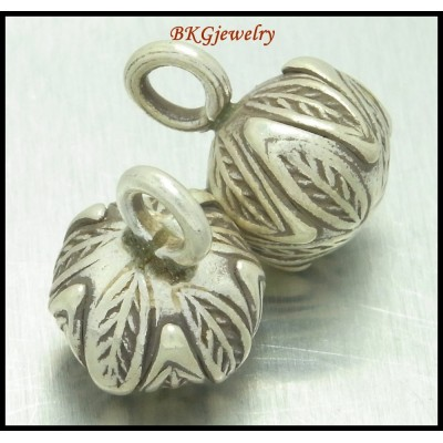 3x Hill Tribe Silver Charms Wholesale Jewelry Findings Ball [KC013]