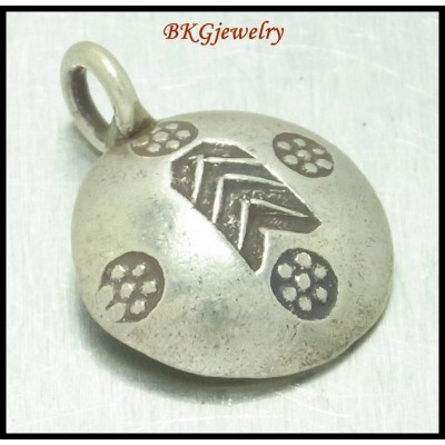 3x Hill Tribe Silver Jewelry Supply Wholesale Engrave Charms [KC019]