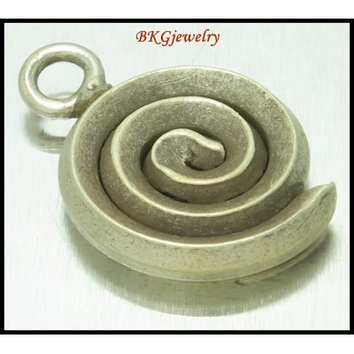 1x Wholesale Jewelry Supplies Hill Tribe Silver Coil Charms [KC065]
