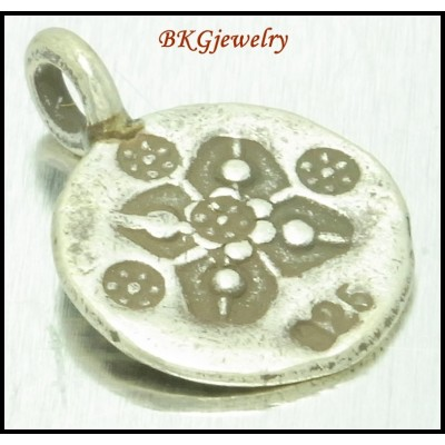 5x Hill Tribe Silver Jewelry Supply Engrave Charms Wholesale [KC077]