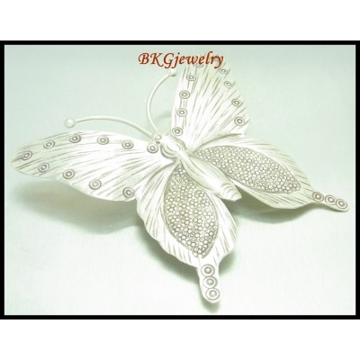 1x Butterfly Karen Hill Tribe Silver Pendant Jewelry Supplies [KP008]