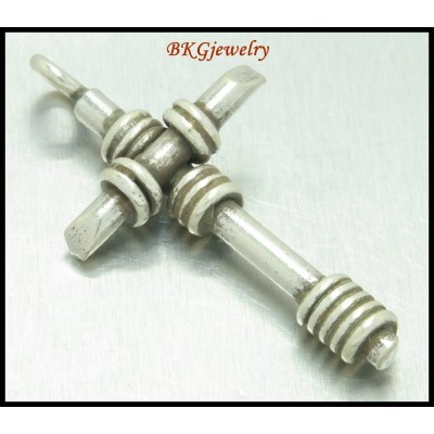 1x Hill Tribe Silver Cross Jewelry Supplies Wholesale Pendant [KP014]