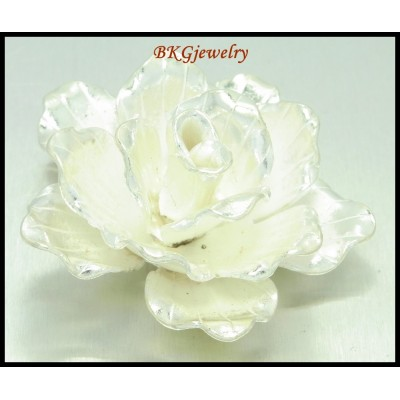 1x Jewelry Supply Hill Tribe Silver Flower Pendant Wholesale [KP001]